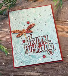 Simon Says Stamp's Stamptember Blog Party featuring a Birthday Shaker Card! Simon Says Stamp Blog, Shaker Cards, Crystal Drop, Happy Birthday Cards, Hello Everyone, Party Time, Card Stock, Happy Birthday Greeting Cards, Paper Board