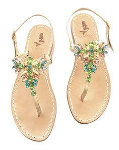 Sandalo infradito gioiello