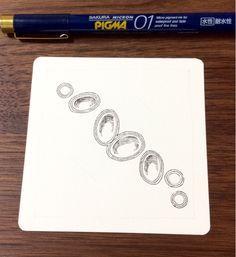 How to draw the gems 2. 〜ゼンタングルにも使える宝石の描き方2〜 - tanglefan