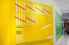 The Archtober 2015 graphics at the Center for Architecture in New York.