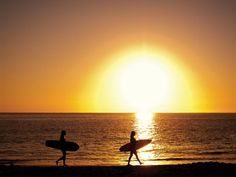 Sunset by the Sea    with Reef girls Catherine Clark and Alana Blanchard