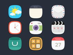 20.free flat icons 60 Incredible Free Flat Icon Sets For Designers