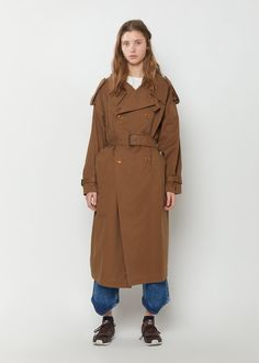 Soft Cotton Trench Coat