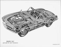 BMW 507- by Shin Yoshikawa.