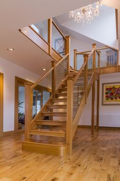 View our Gallery to see the wide variety of staircases that we can offer. Staircase Design, Staircase Ideas, Winder Stairs, Oak Frame House, Open Stairs, Stairs Architecture, Stair Risers, Interior Decorating, Interior Design