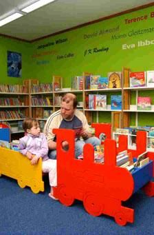 Children's area at Stowmarket Library