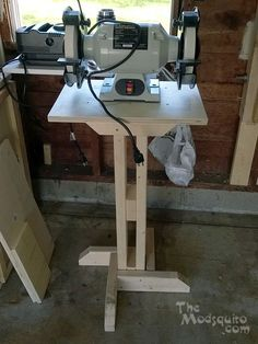 Around the Shop #8: Grinder Stand, with 'plans' - by Mosquito @ LumberJocks.com ~ woodworking community