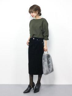 Office Fashion, Work Fashion, Curvy Fashion, Asian Fashion, Womens Fashion, Street Fashion, Fall Fashion Trends, Autumn Fashion, Warm Fall Outfits