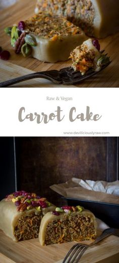 #raw #vegan Zucchini Carrot Cake from Deviliciously Raw