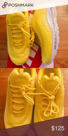 47728b07d7 NIKE YELLOW AIR MAX 97 SIZE 7 IN WOMENS NO BOX Nike Shoes Sneakers Air Max