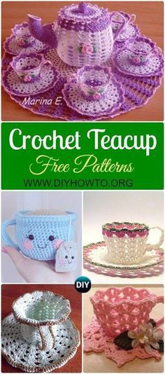 #crochet #Teacup Free Patterns -->> http://www.diyhowto.org/crochet-teacup-free-patterns/