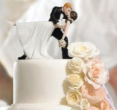 "Custom ""A Romantic Dip"" Dancing Bride and Groom Couple Figurine 