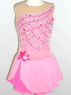 Custom Made to Fit Beautiful Ice Skating Dress | eBay