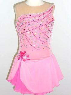 Custom Made to Fit Beautiful Ice Skating Dress | eBay