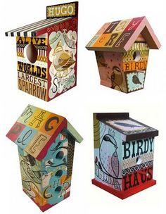 Cool decorative bird house!