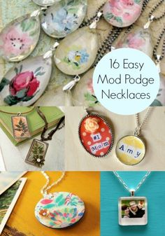 DIY a necklace: 16 easy to decoupage projects.