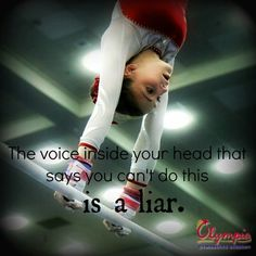 This is so true. When that voice lists all the reasons you can't, have it list the reasons you can.