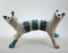 Cat Clay Sculpture