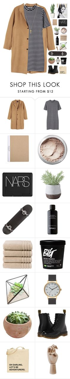 """""""on a clear night in june"""" by karm-a ❤ liked on Polyvore featuring T By Alexander Wang, Bare Escentuals, Magdalena, NARS Cosmetics, Torre & Tagus, BRAD Biophotonic Skin Care, Christy, The Horse, Dr. Martens and HAY"""