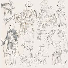 Drawing Man Ball Is Life - Jennifer Wuestling is an illustrator and concept artist working at Riot Games, the studio behind League of Legends. Knight Drawing, Knight Art, Drawing Armor, Armadura Medieval, Armor Concept, Concept Art, Medieval Drawings, Desenho Tattoo, Medieval Armor