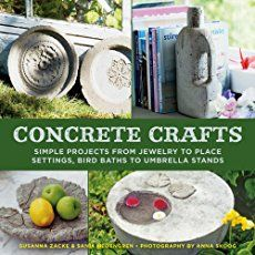 Love the look of concrete crafts? Lately, I have seen so many cool DIY projects made with concrete, I just had to share my favorites with you. I was initially surprised to see you could make such creative home decor by simply using a bag of concrete, but now I am day dreaming of all the awesome thin