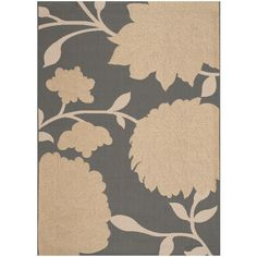 Courtyard Anthracite/Beige (Grey/Beige) 6 ft. 7 in. x 9 ft. 6 in. Indoor/Outdoor Area Rug