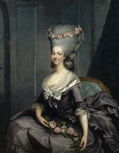 Marie Thérèse Louise de Savoie-Carignan (1749-1792), princesse de Lamballe by Antoine-François Callet (Châteaux de Versailles et de Trianon - Versailles France)  Princess Lamballe  She was Marie Antoinettes good friend who stayed by her to the end. She was killed by a mob, her head stuck on a spike, and the head paraded by Marie Antoinette's prison cell.