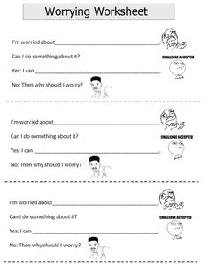 Worry - this is a cute worksheet, not sure if I can use it but good to have in case