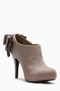 Bamboo Shimmer Bow Booties
