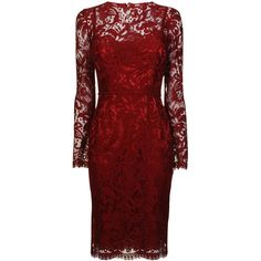 DOLCE & GABBANA Lace Long Sleeve Dress ($2,285) ❤ liked on Polyvore