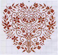 punto croce cuore