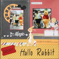 Hallo Rabbit! - Scrapbook.com- Document those Disney memories using the Simple Stories Say Cheese collection!