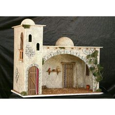 Christmas Crib Ideas, Christmas Manger, Christmas Nativity Scene, Christmas Crafts, Christmas Decorations, Xmas, Christmas Ornaments, Fontanini Nativity, Pottery Houses