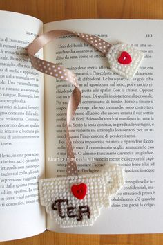 Teacup Bookmark Page Marker Unique by Ricamoeplasticcanvas on Etsy Cute Bookmarks, Cross Stitch Bookmarks, Ribbon Bookmarks, Cross Stitch Embroidery, Handmade Bookmarks, Corner Bookmarks, Plastic Canvas Coasters, Plastic Canvas Ornaments, Plastic Canvas Crafts