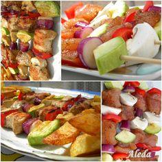 Grillezés és grillszószók Fruit Salad, Cobb Salad, Hungarian Recipes, Barbecue, Potato Salad, Bacon, Grilling, Food And Drink, Barbacoa