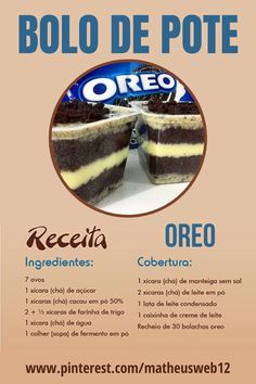 Oreo, Dessert Cake Recipes, Desserts, Chocolate Candy Recipes, Cookie Time, Bakery Recipes, Cute Cakes, No Cook Meals, Food And Drink