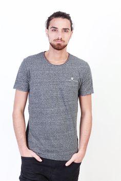 c12d4a2259cf1 Camiseta gris para hombre de manga corta - BuyNowIn