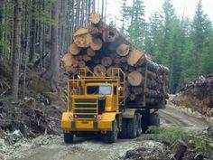 Logging Equipment, Heavy Equipment, Semi Trucks, Old Trucks, Timber Logs, Powell River, Forest Pictures, Heavy Duty Trucks, Truck Art
