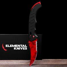 Real Ruby Flip Knife - Elemental Knives