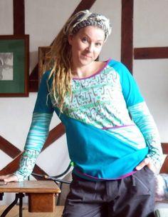 Handmade Einzelstück Shirt Alternativ Punk, Unisex, Pullover, Ruffle Blouse, Shirts, Vintage, Tops, Women, Style