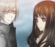 Vampire Knight - Zero and Yuki's children. The girl is in fact Yuuki and Kaname's ( Chapter 93.5) The boy is obviously Zero's.
