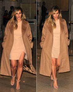 Kim Kardashian, camel outfit