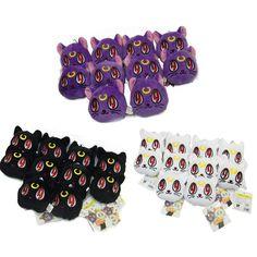 Anime Sailor Moon 3pcs/set cat keychain Lunar Artemis Diana Cat plush doll keychain Hang Decorations Free Shipping