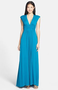 Sky 'Nazaha' Crochet Waist Jersey Maxi Dress available at #Nordstrom