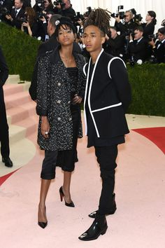 Jaden Smith in Louis Vuitton and Willow Smithin Chanel and Christian Louboutin shoes