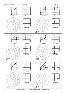 Isometric Sketch, Isometric Paper, Orthographic Projection, Orthographic Drawing, Isometric Drawing Exercises, Geometry Activities, Certificate Design Template, Interesting Drawings, Geometric Drawing
