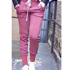 Burgundy jogger pants NWT super cute jogger pants!! These are cotton & fit true to size. Measurements: waist- 32inches, length 40inches, in-seam- 30inches Pants Track Pants & Joggers