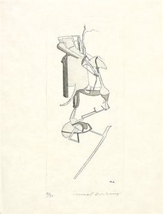 Artwork by Marcel Duchamp, The Bride, Made of etching