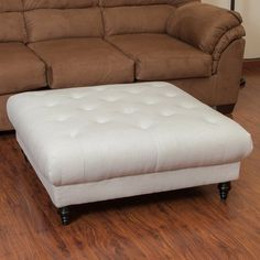 Best Selling Home Valda Fabric Ottoman - Eggshell - 238383