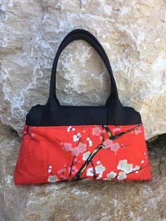 Sac City Zip-Zip noir et rouge japonais cousu par Amandine - Patron Sacôtin